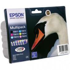 Картридж (комплект) Epson Stylus R270/RX590/T50 (O) T08174A/C13T
