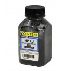 Тонер Content для HP LJ 1010/1012/1015/1020/1022, Bk, 100 г, бан